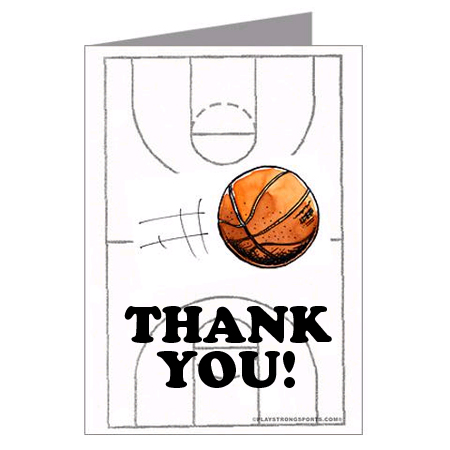 Basketball thank you cards play strong sports powercards play basketball thank you cards play strong sports powercards m4hsunfo